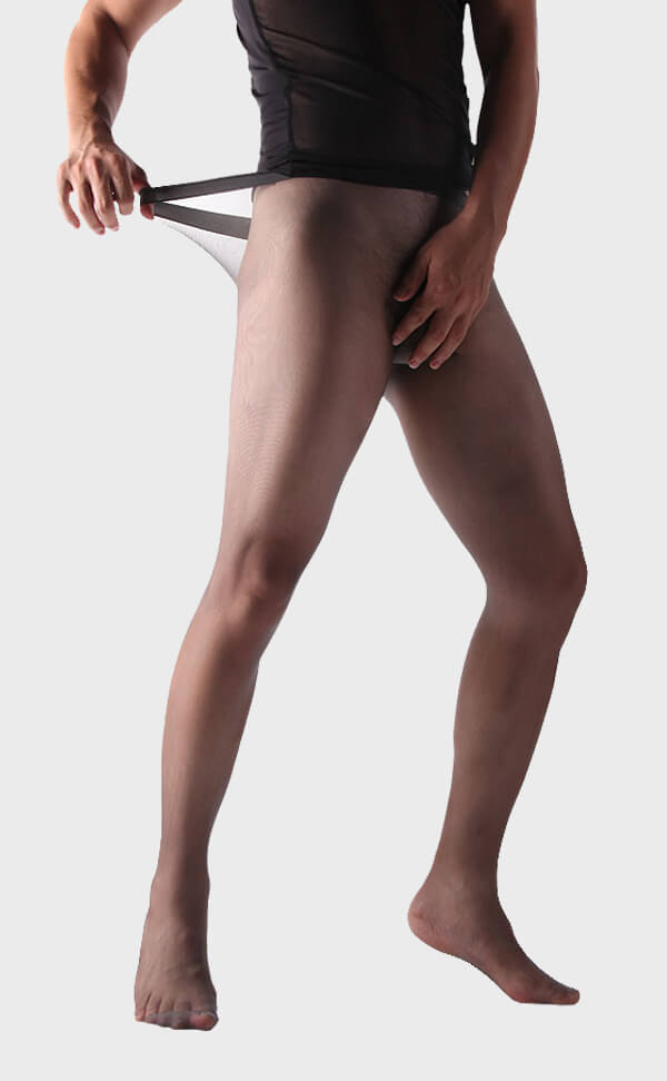 Sexy Seamless Sheer-To-Waist Pantyhose for Men