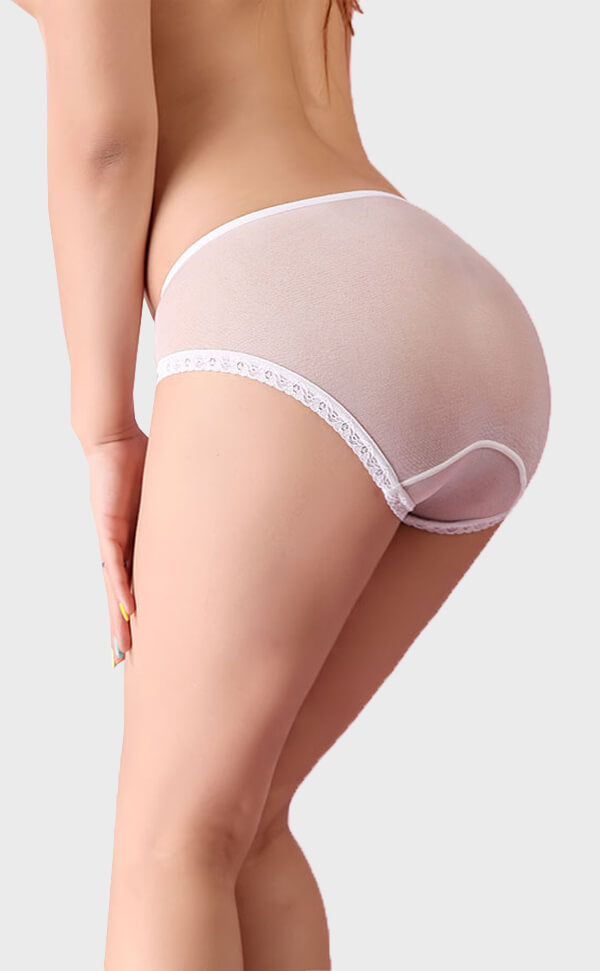 Unisex Seamless Sheer Nylon Briefs