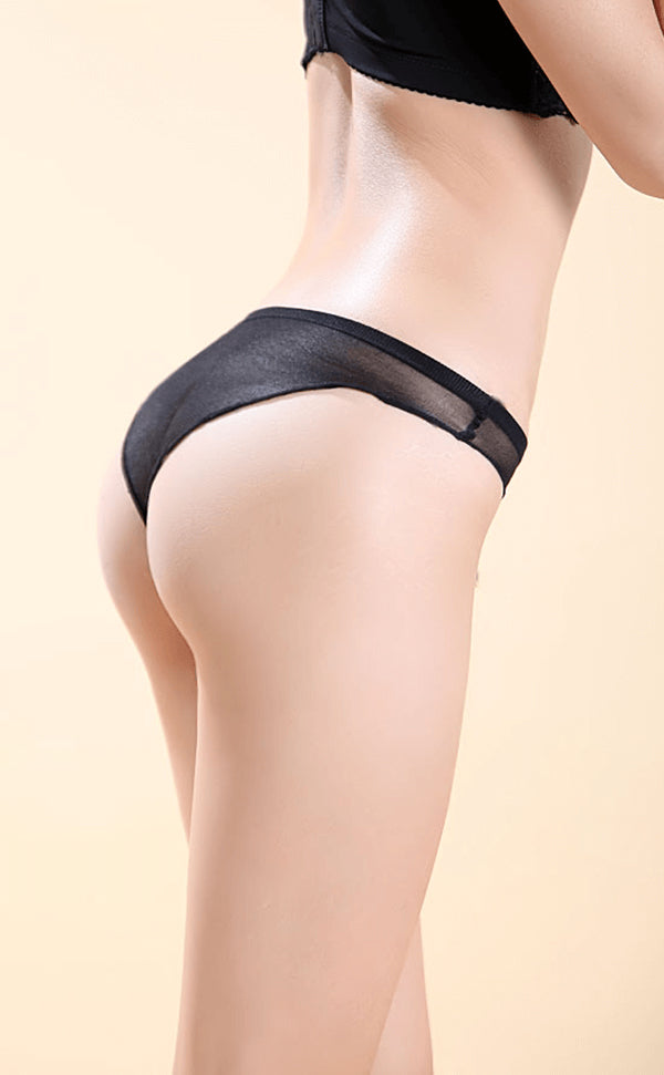 Seamless Sheer Nylon Thong