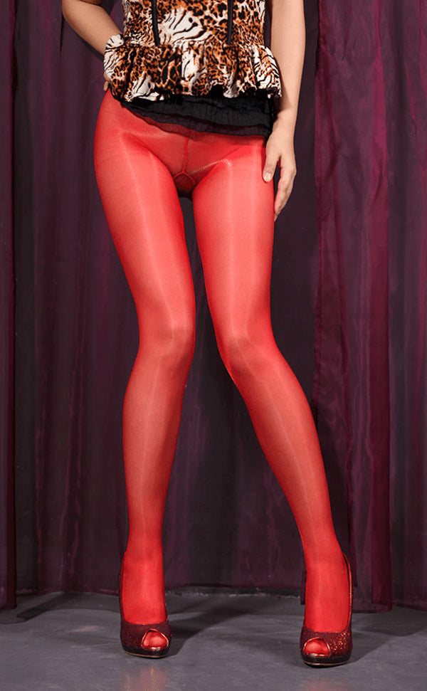 Sheer Shiny Tights without Cotton Gusset