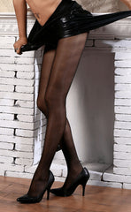 10D Women's Glossy Infinite Sheer Pantyhose