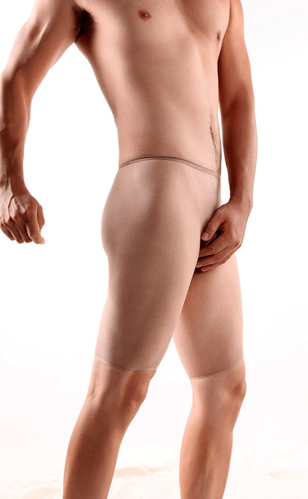 Men's Sheer Seamless Nylon Cycle Short Briefs