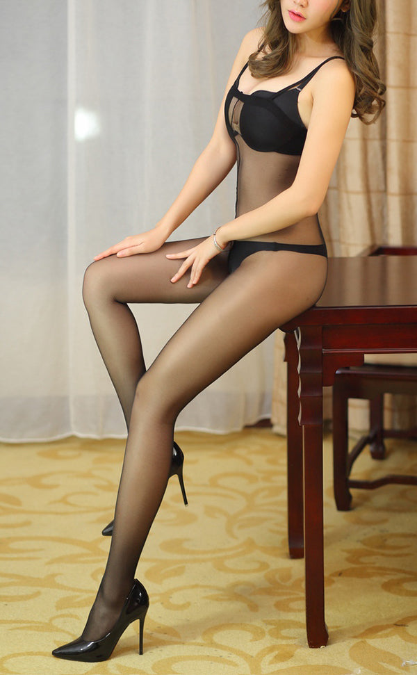 Sheer Bodystockings with Strap