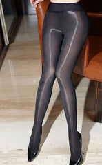 8D Ultra Glossy Wide-waistband Tights