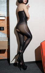 8D Ultra Glossy Crotchless Bodystockings