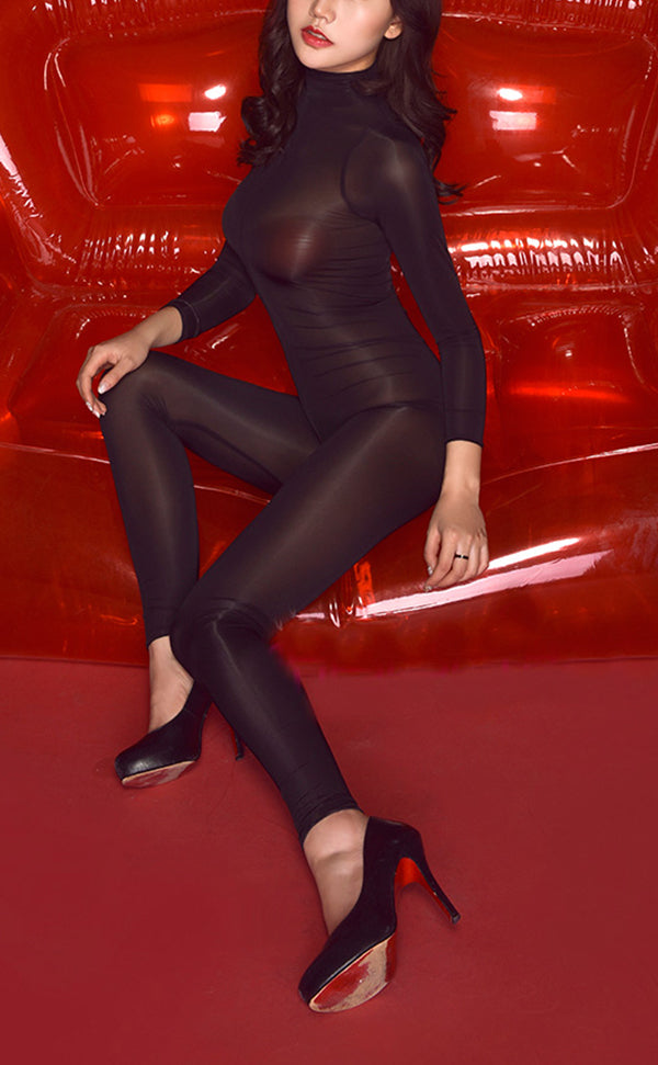 Sexy Long Sleeve Jumpsuit with Zipper