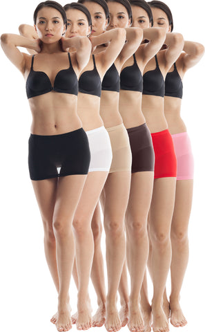 ElsaYX Women's Ultra Thin Sheer Mini Skirts - 6 Pairs