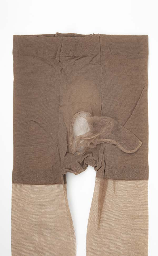 Ultra-Thin Crotchless Pantyhose Sheath Closed