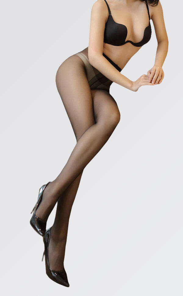 Sheer-to-Waist(STW) Shiny Crotchless Tights