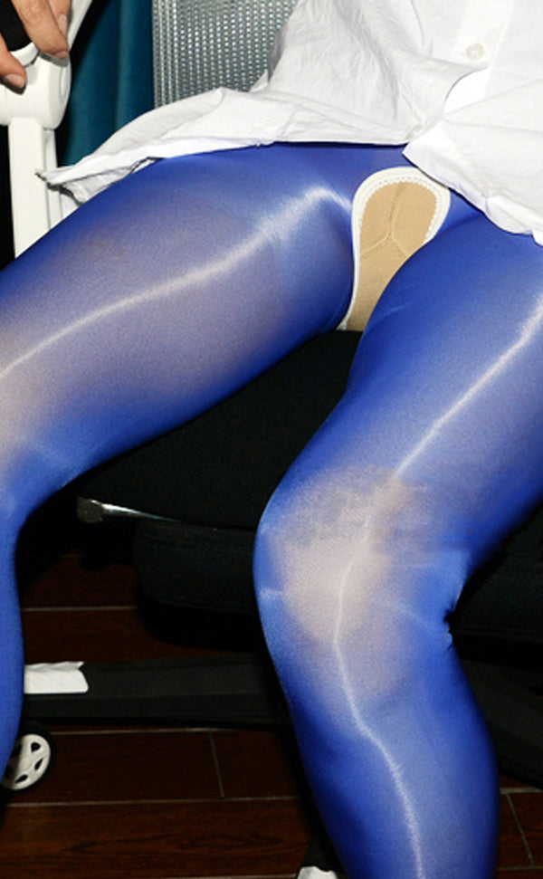 8D Shiny Stockings Crotchless Pantyhose