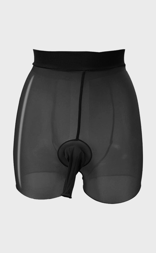 Men's Sheer Glossy Tights Underwear Sheath Open