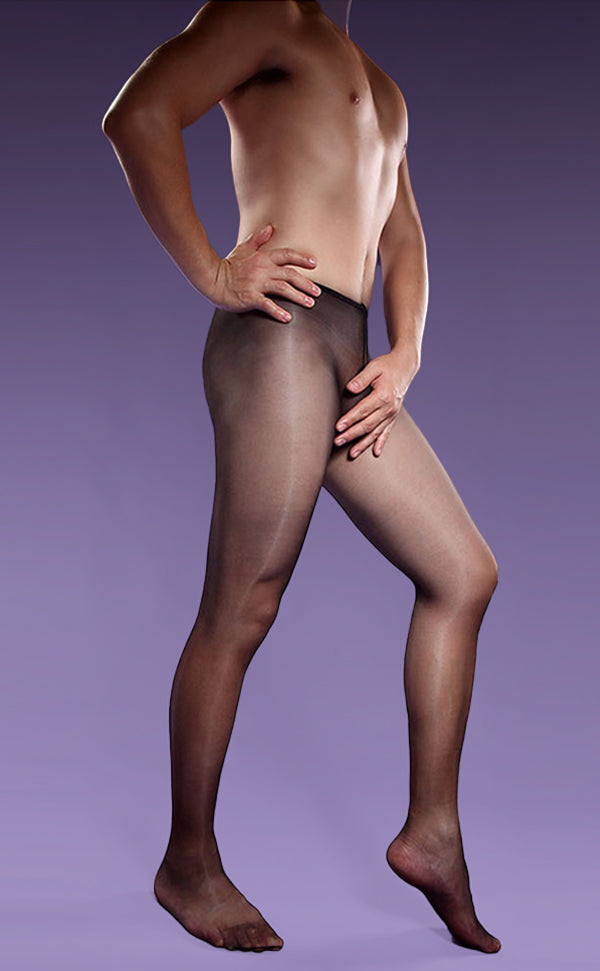 Men's Glossy Sheer STW Pantyhose with Sheath