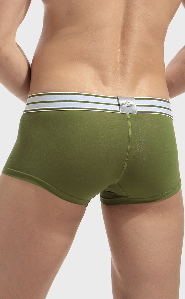 Men's Cotton Fashion Trunk with Pouch