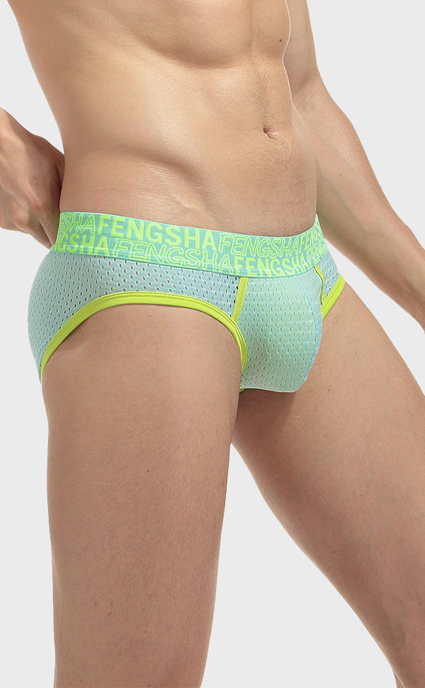 Semi Sheer Fashion Mesh Briefs for Men