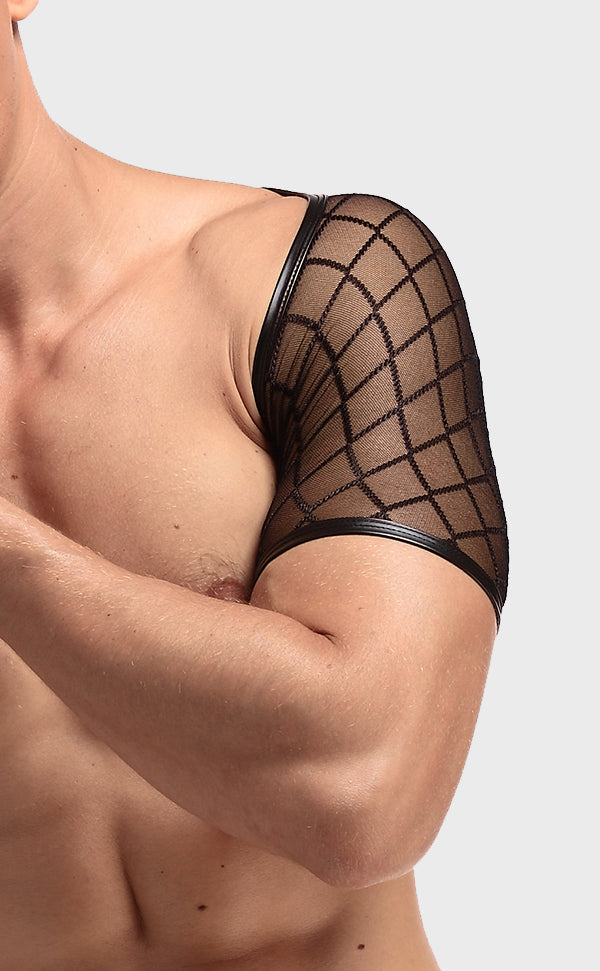 Men's Sexy Fishnet Vest Short Sleeve