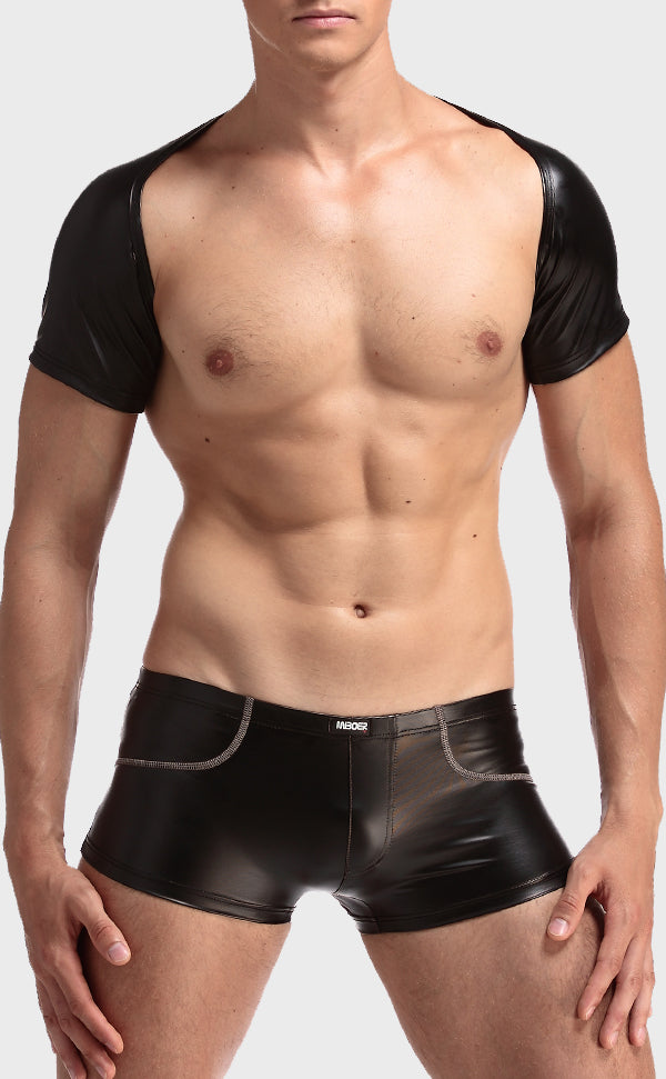 Men's Sexy Faux Leather Top Vest