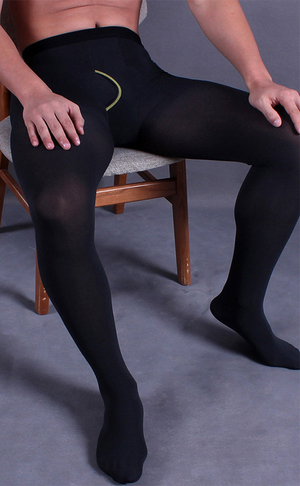 Men's Thick Pantyhose Opening in Crotch