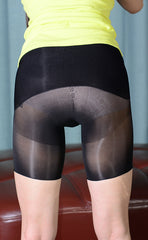 Shiny Seamless Pantyhose Boxer Briefs