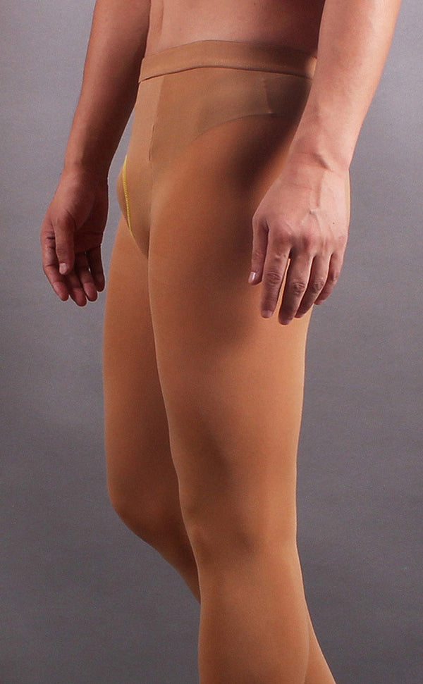 Men's Velvety 80D Footless Pantyhose