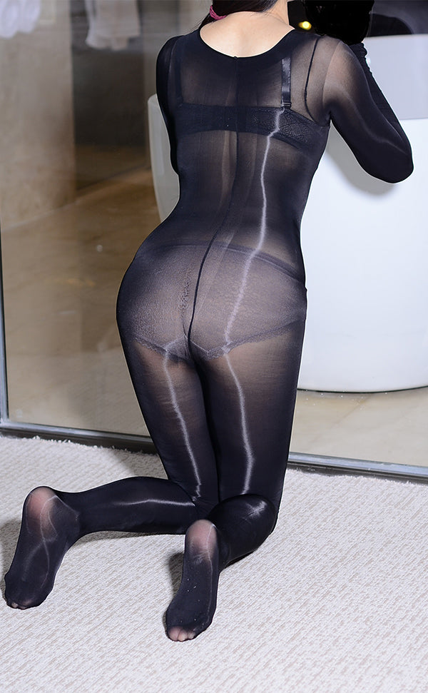 Unisex Long Sleeve Bodystockings with Gloves