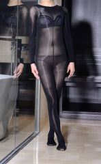 Unisex High-Glossy Long Sleeve Bodystockings