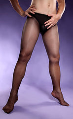 Men's Sheer Front Open Crotch Tights
