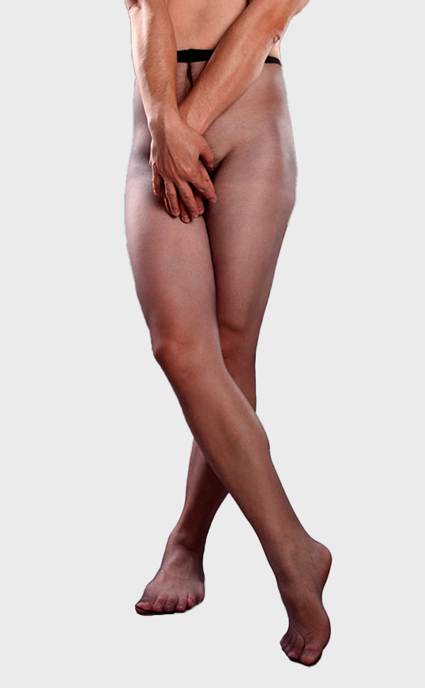 Men's Sheer Tights with Pouch