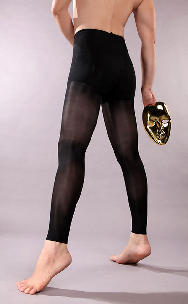 Men's Footless Tights with Pouch