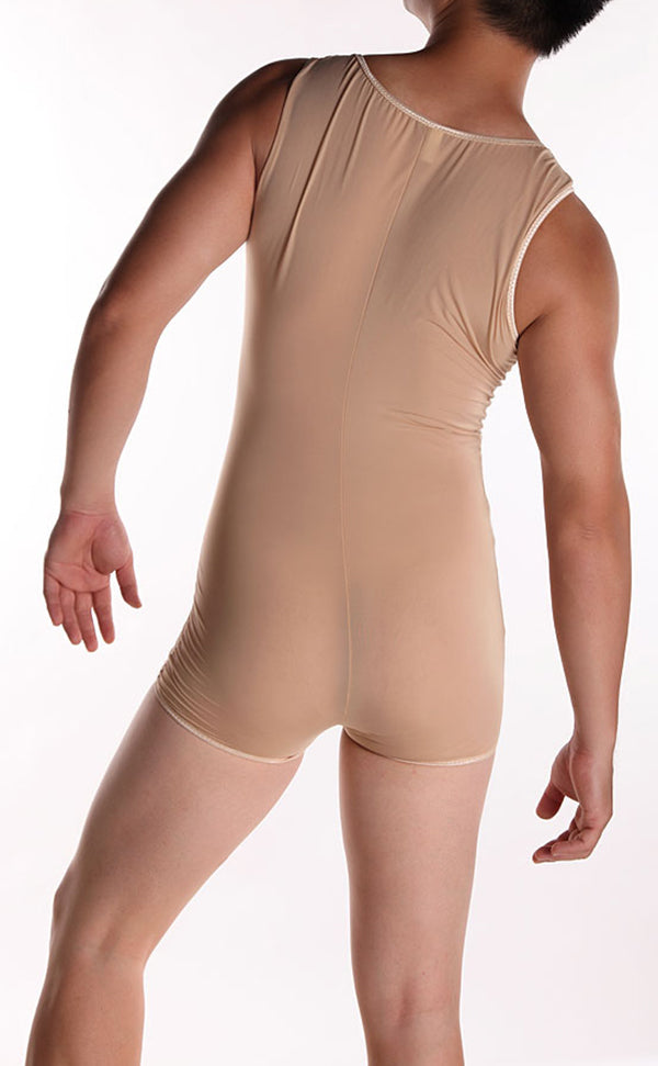 Men T-shirt Body Shaper Nylon Bodysuit