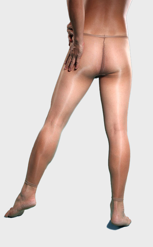Men's Sheer Front Open Crotch Footless Tights