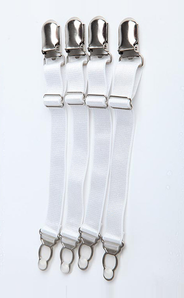 4 Pcs Adjustable Metal Duckbill Buckle Garters