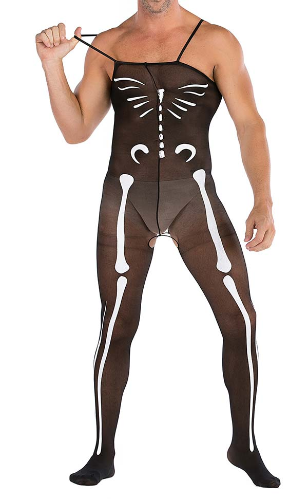 Men's Skeleton Halloween Costume Bodystocking