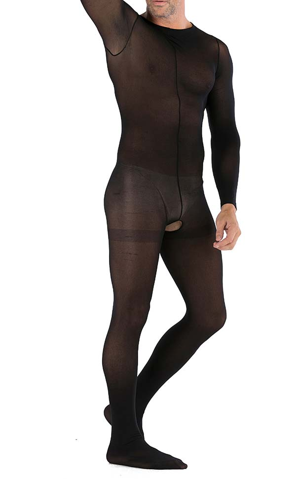 Men's Sexy Matte Crotchless Bodystocking