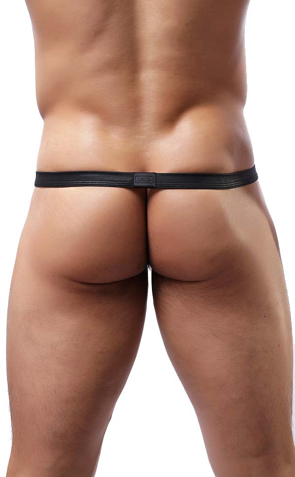 Ultra Sexy Men's Faux Leather G-Strings