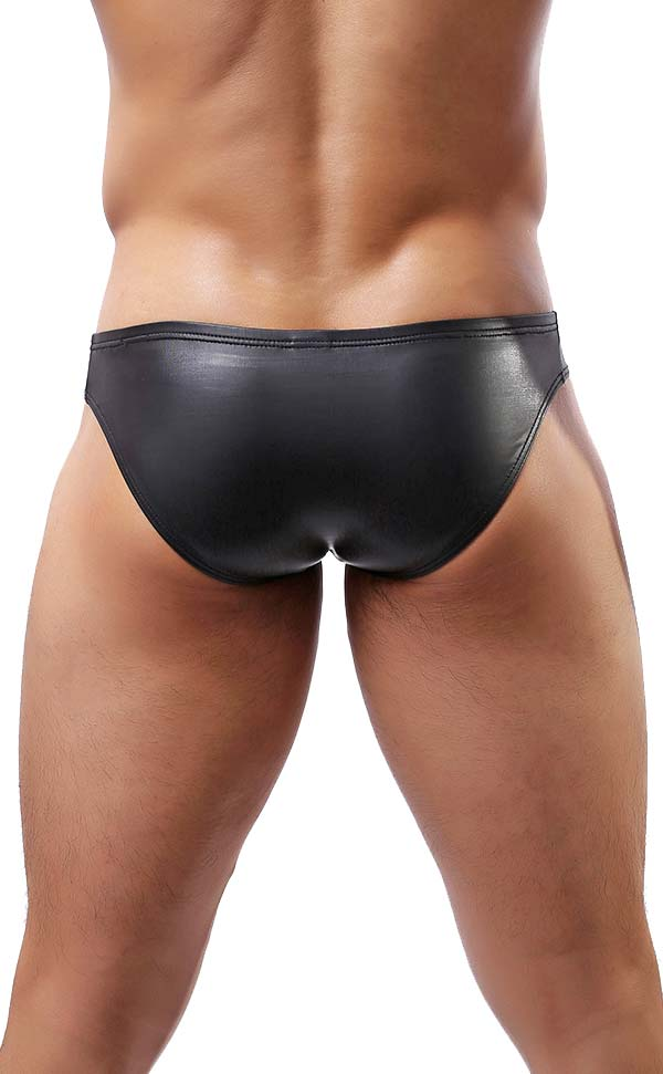 Sexy Men's Faux Leather Briefs