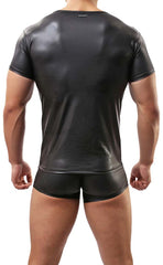 Men's Faux Leather T-Shirt and Trunk
