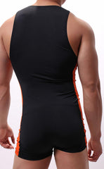 Men's Bicolor Boxer Bodysuit