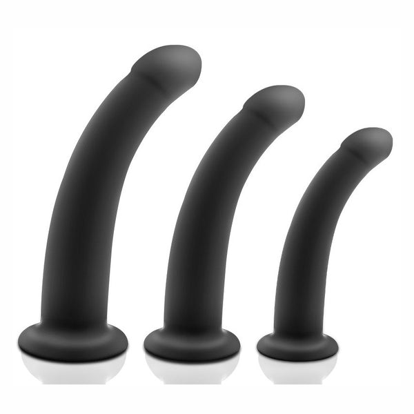 Black Silicone Butt Plug 3 Sizes Available