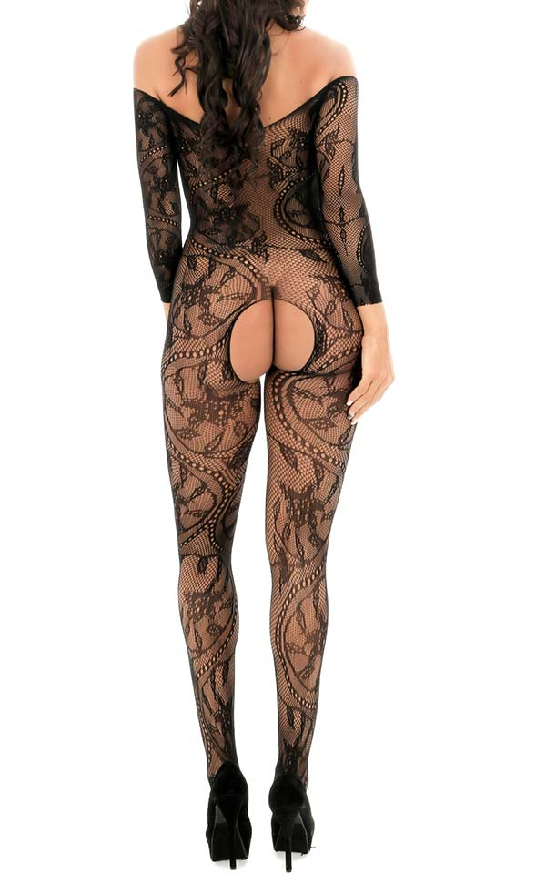 Large Floral Pattern Bodystockings