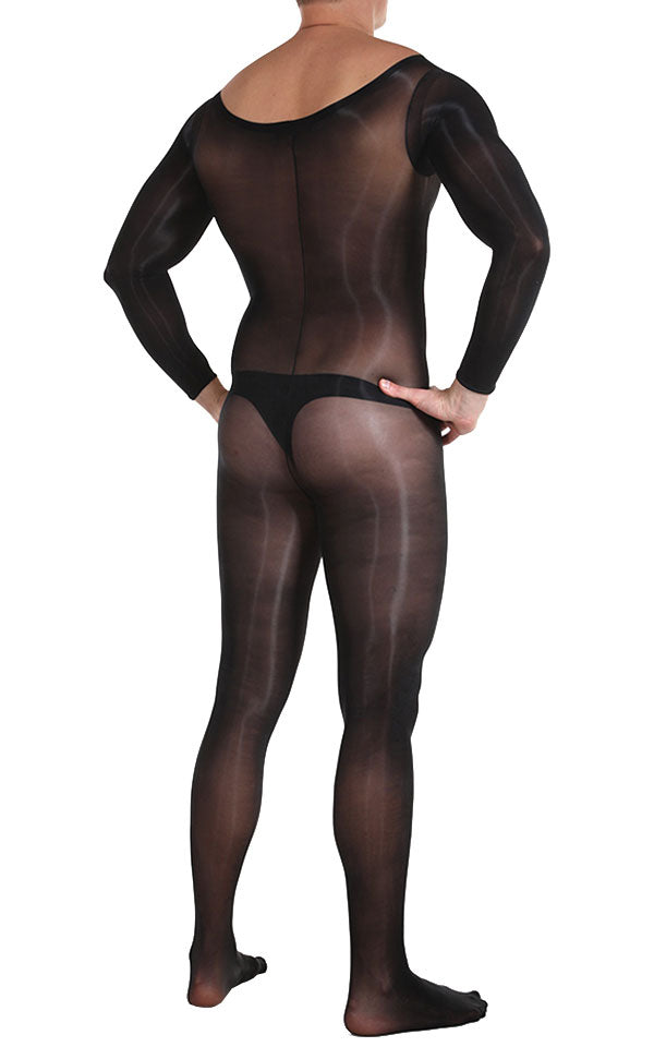 Glossy Long Sleeve Bodystocking
