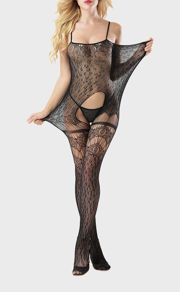 Sexy Crotchless Fishnet Bodystocking