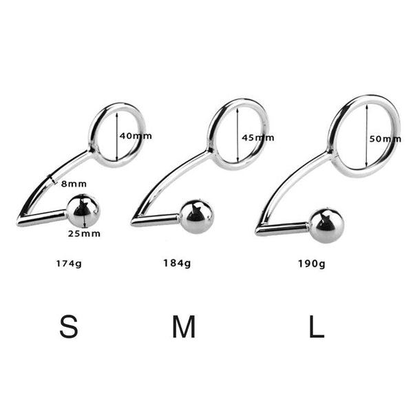 3 Sizes Stainless Steel Anal Hook
