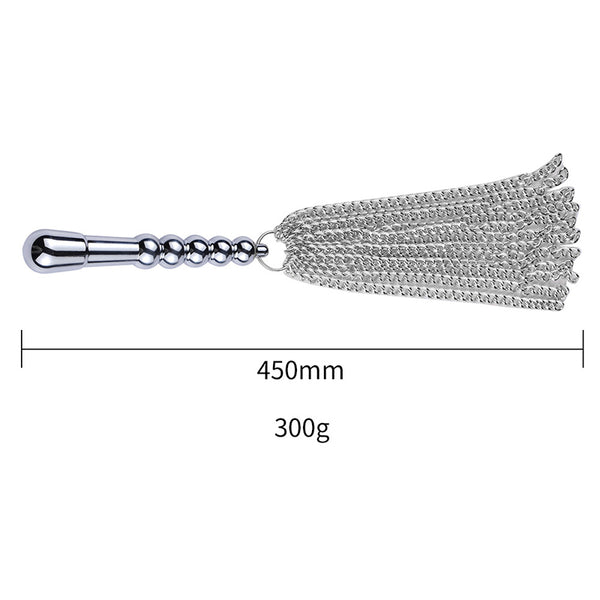 Stainless Steel Dildo with Metal Flogger