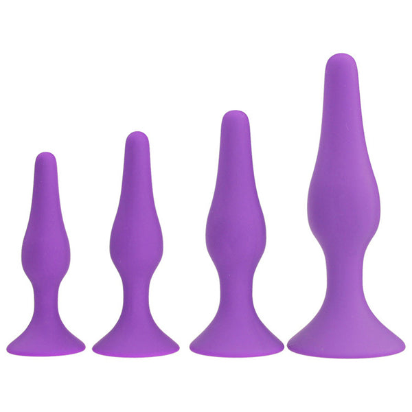 Silicone Butt Plug Trainer Kit - Comes with Four Butt Plugs