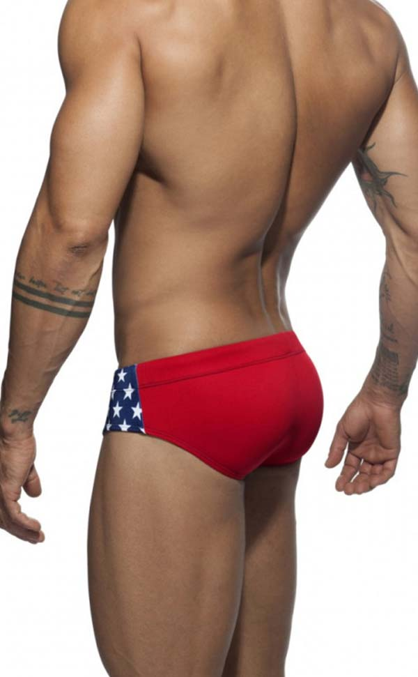 Star Printing Swim Briefs with Sponge Pad