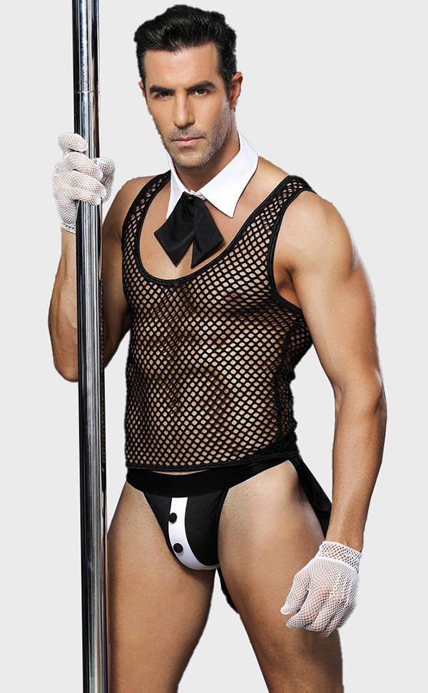 Fishnet See Through Waiter Lingerie Sets