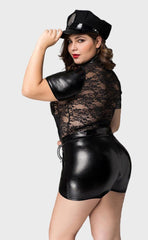 Plus Size Lace Top Police Costumes