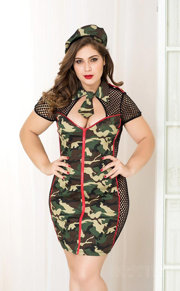 Plus Size Camouflage Officer Costumes