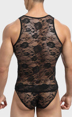 Men's Jacquard Lace Vest Sets