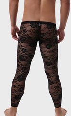 Low Rise Jacquard Lace Leggings